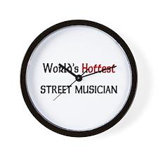 World's Hottest Street Musician Wall Clock