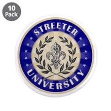"Streeter Last Name University 3.5"" Button (10 pack"