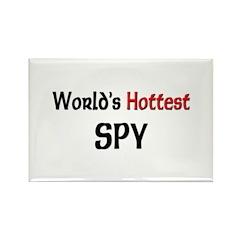 World's Hottest Spy Rectangle Magnet