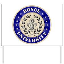 Boyce Last Name University Yard Sign