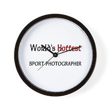 World's Hottest Sport Photographer Wall Clock