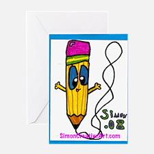 Simon's Friendly Pencil Greeting Card