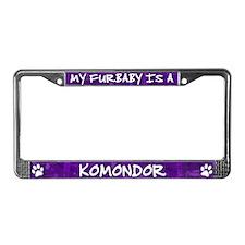 Furbaby Komondor License Plate Frame