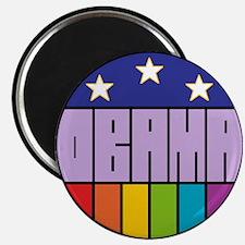 "Obama Flag Rainbow 2.25"" Magnet (100 pack)"