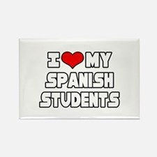 """I Love My Spanish Students"" Rectangle Magnet"
