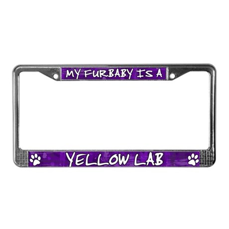 Furbaby Yellow Lab License Plate Frame