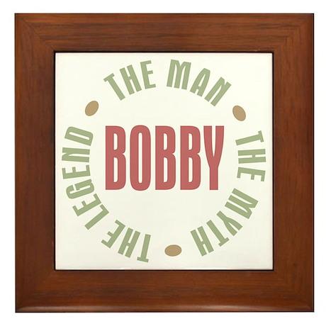 Bobby Man Myth Legend Framed Tile