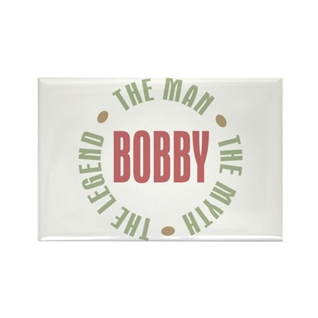 Bobby Man Myth Legend Rectangle Magnet (100 pack)