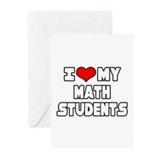 """""""I Love My Math Students"""" Greeting Cards (Pk of 20"""