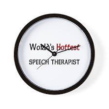 World's Hottest Speech Therapist Wall Clock