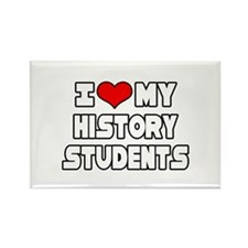 """I Love My History Students"" Rectangle Magnet"