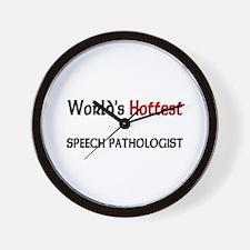 World's Hottest Speech Pathologist Wall Clock