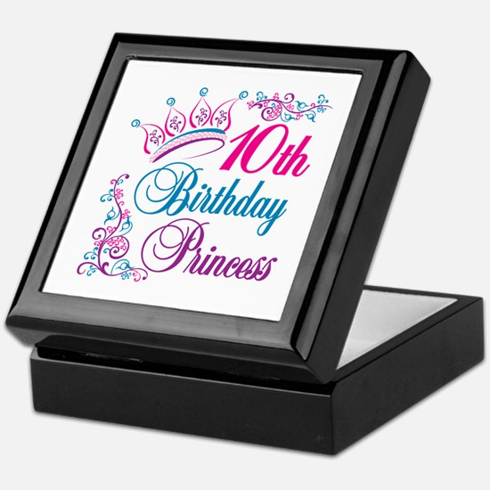 10th Birthday Princess Keepsake Box