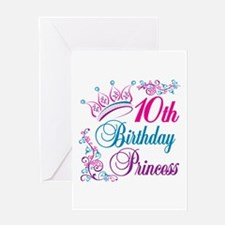 10th Birthday Princess Greeting Card