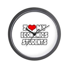 """Love My Economics Students"" Wall Clock"