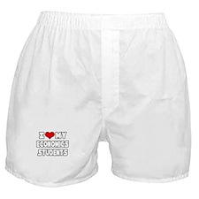 """Love My Economics Students"" Boxer Shorts"