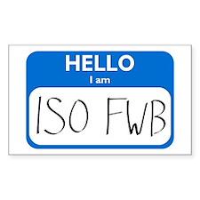 ISO FWB Rectangle Decal