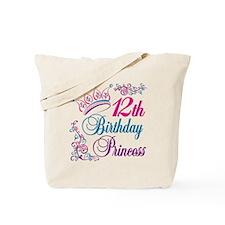 12th Birthday Princess Tote Bag