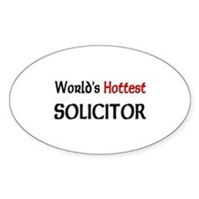 World's Hottest Solicitor Oval Decal