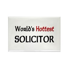 World's Hottest Solicitor Rectangle Magnet