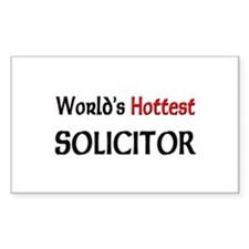 World's Hottest Solicitor Rectangle Decal