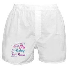 13th Birthday Princess Boxer Shorts