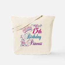 13th Birthday Princess Tote Bag