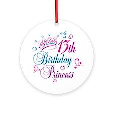13th Birthday Princess Ornament (Round)