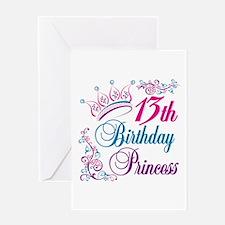 13th Birthday Princess Greeting Card