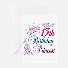 13th Birthday Princess Greeting Cards (Pk of 10)