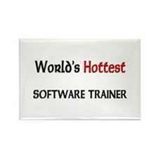 World's Hottest Software Trainer Rectangle Magnet
