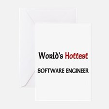 World's Hottest Software Engineer Greeting Cards (