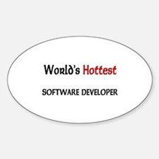 World's Hottest Software Developer Oval Decal