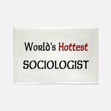 World's Hottest Sociologist Rectangle Magnet