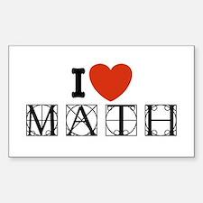 I Love Math Rectangle Decal