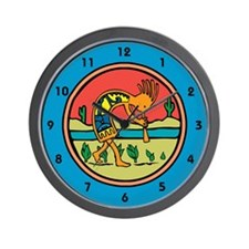 Kokopelli 17 Wall Clock