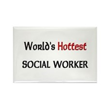 World's Hottest Social Worker Rectangle Magnet