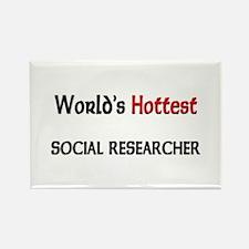 World's Hottest Social Researcher Rectangle Magnet