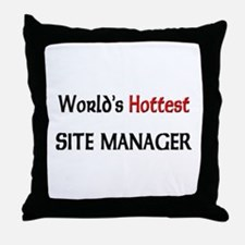 World's Hottest Site Manager Throw Pillow