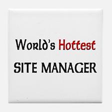World's Hottest Site Manager Tile Coaster