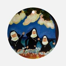 NUNS CATCH A WAVE Ornament (Round)