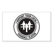 Support Foosball Player Rectangle Decal
