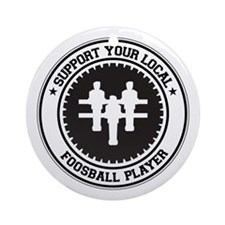 Support Foosball Player Ornament (Round)