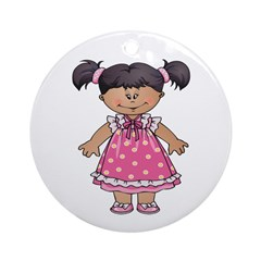 Little Lady Ornament (Round)