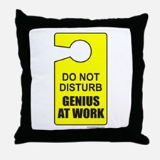 GENIUS AT WORK Throw Pillow