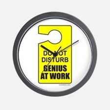GENIUS AT WORK Wall Clock