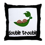 Twins(African American Boys) Throw Pillow