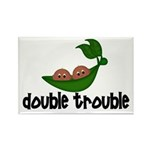 Twins(African American Boys) Rectangle Magnet (10
