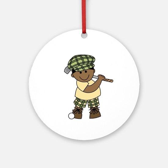 Little Golfer (AA) Ornament (Round)