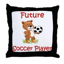 Future Soccer Player Throw Pillow